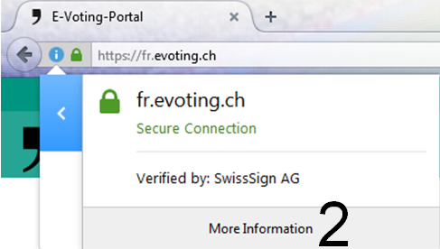Print screen for certificate authentication in Firefox Explorer step 2
